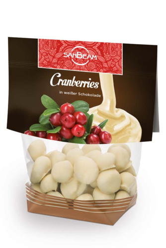 SanBeam Cranberries in Weißer-Schoko